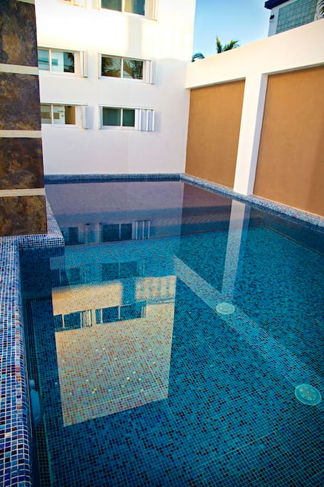 Villa Mandalay's pool offers stunning mirror reflections of the home.