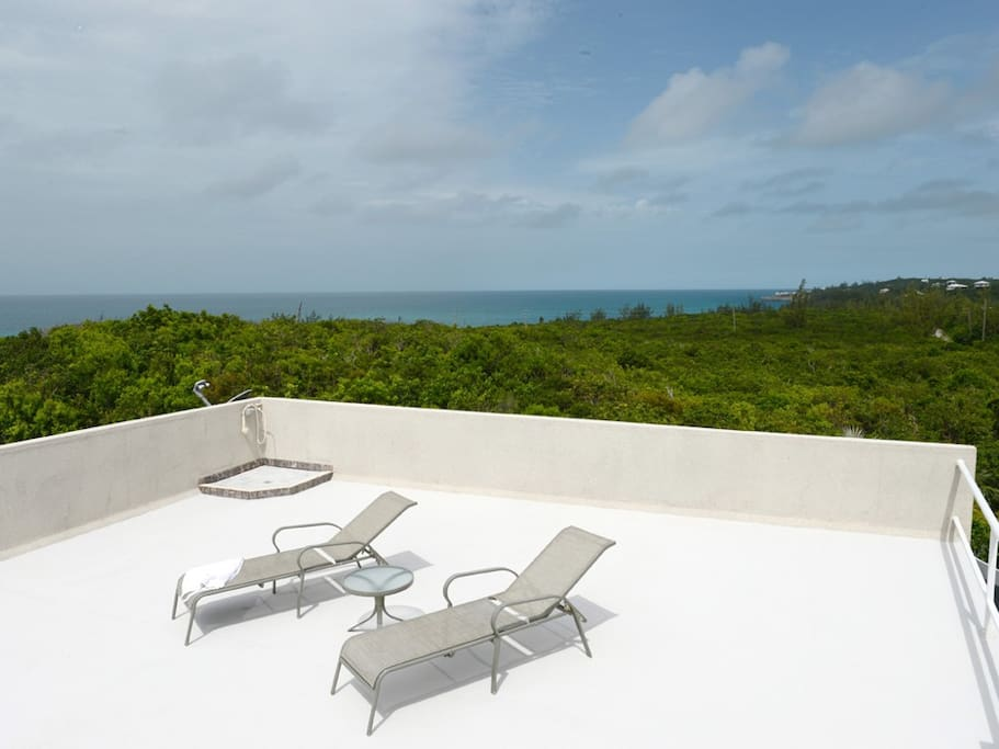 Sun Terrace roof deck facing Caribbean