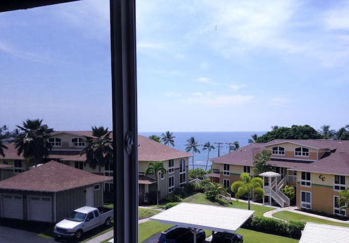 The window in the master has great views and opens to the ocean breeze.