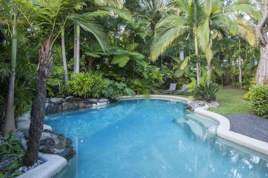 Large tropical pool