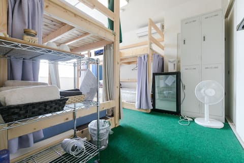 Uji station  on foot 3min ,male domitory room