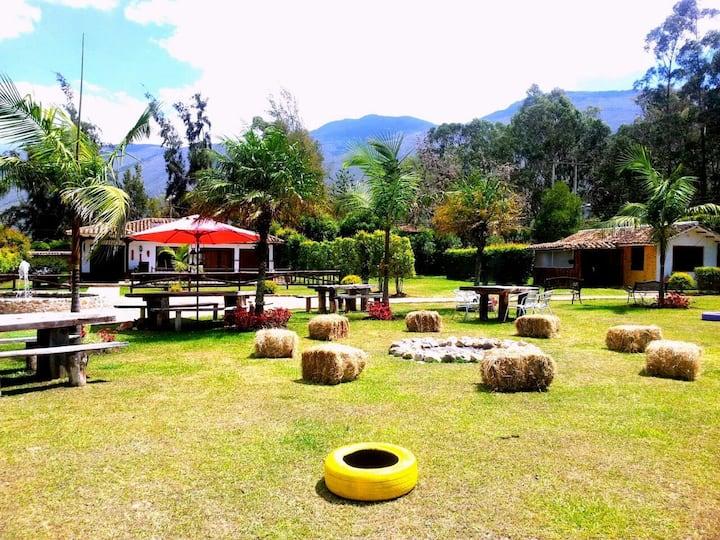 Villa de Leyva Cabaña Campestre 2 o 4  y desayuno