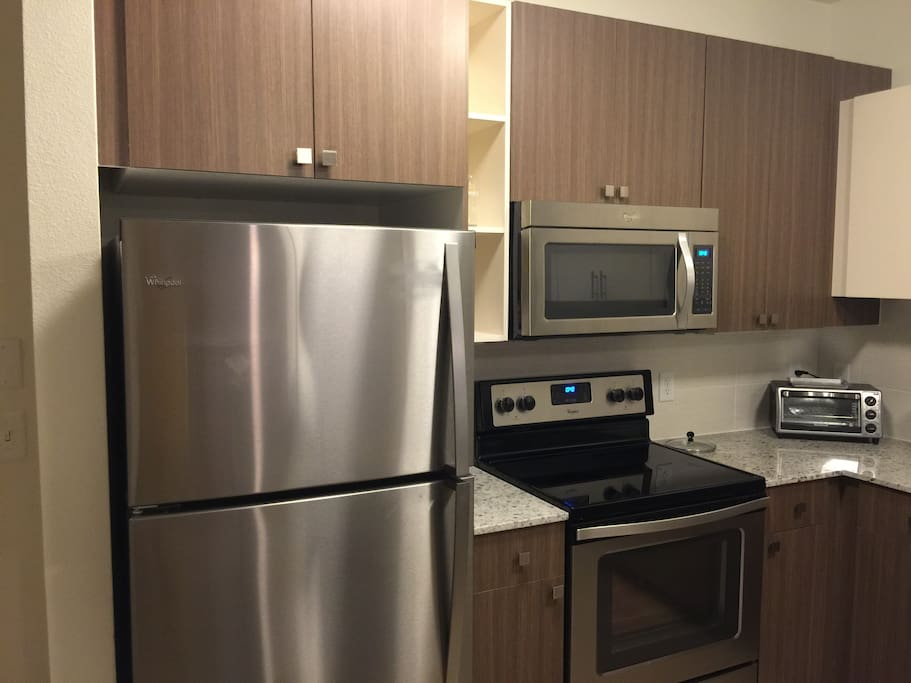 Fridge, Stove, and Toster
