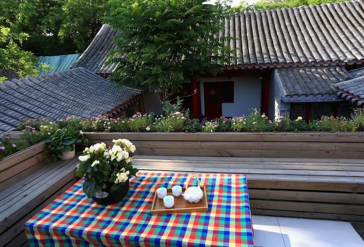 王府井旁胡同里的老北京四合院之复式家庭房,步行到地铁站5分钟