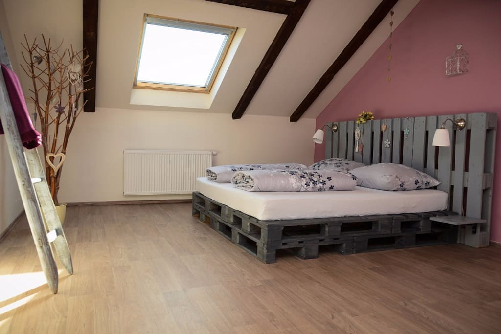 Master bedroom for up to 4 guests
