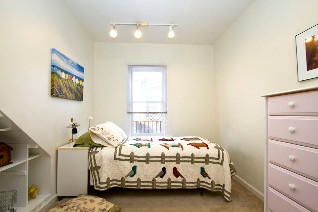Bird House   Bedroom -- single bed.  Full size option as well.
