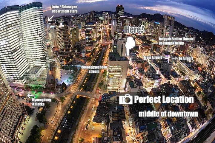 MyeongDong ★Basecamp802★+Free WiFi
