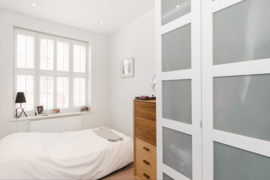 second bedroom with small double bed
