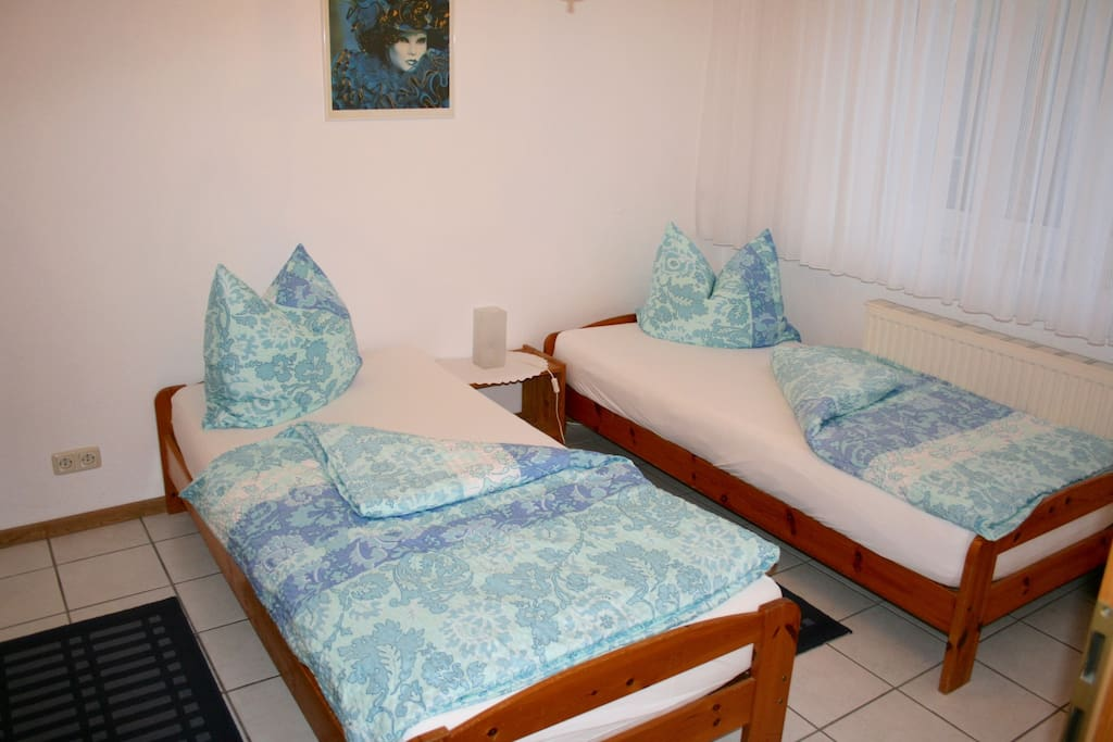your bedroom1 with 2 single beds