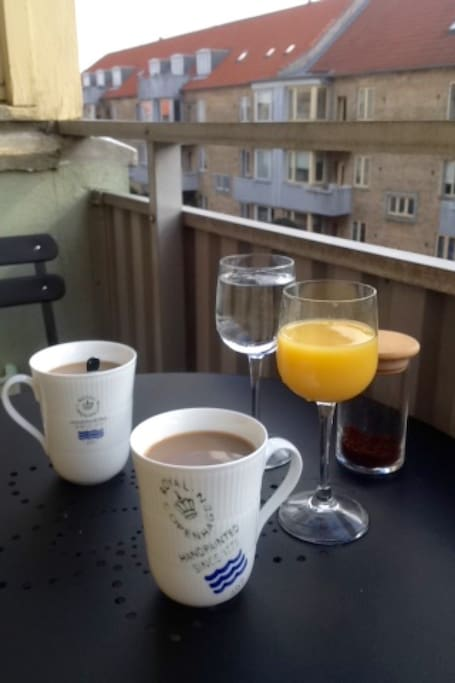 enjoy a cup of coffee or eat your lunch at the balcony.