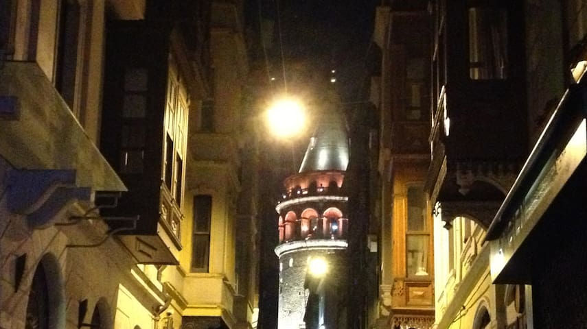 Galata Tower from street level