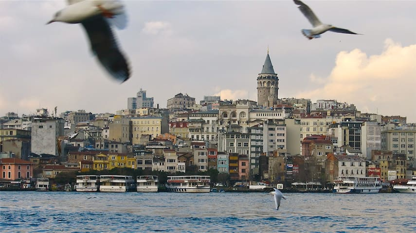 The view to Galata from near the Spice Bazaar