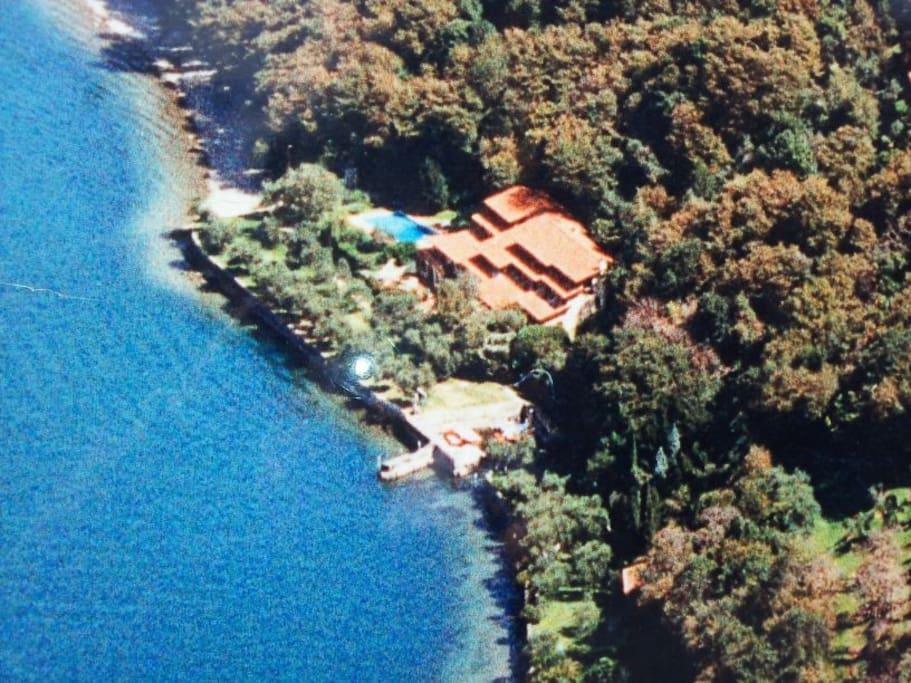 vista dall'alto del residence