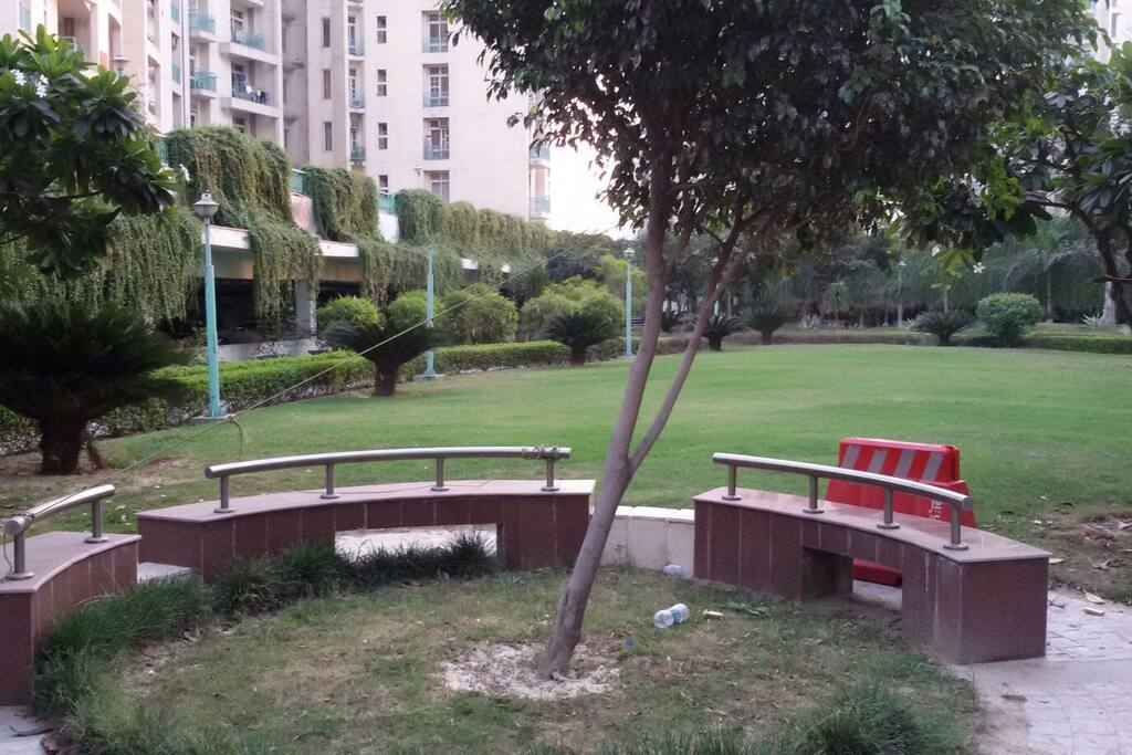 The beautiful Garden for your oxygen filled morning and evening walks