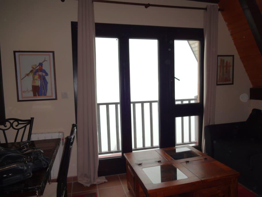 The small balcony
