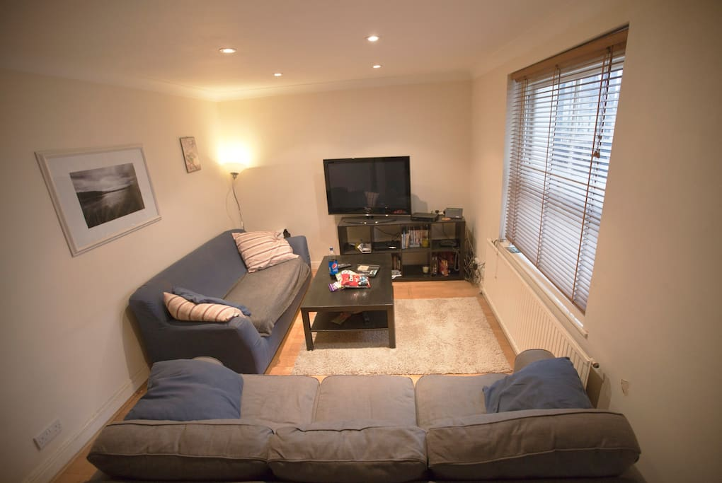 Comfy communal space with YouView TV and internet