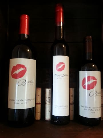 Our Honor Bar is stocked with wines made by the owner, available for purchase.