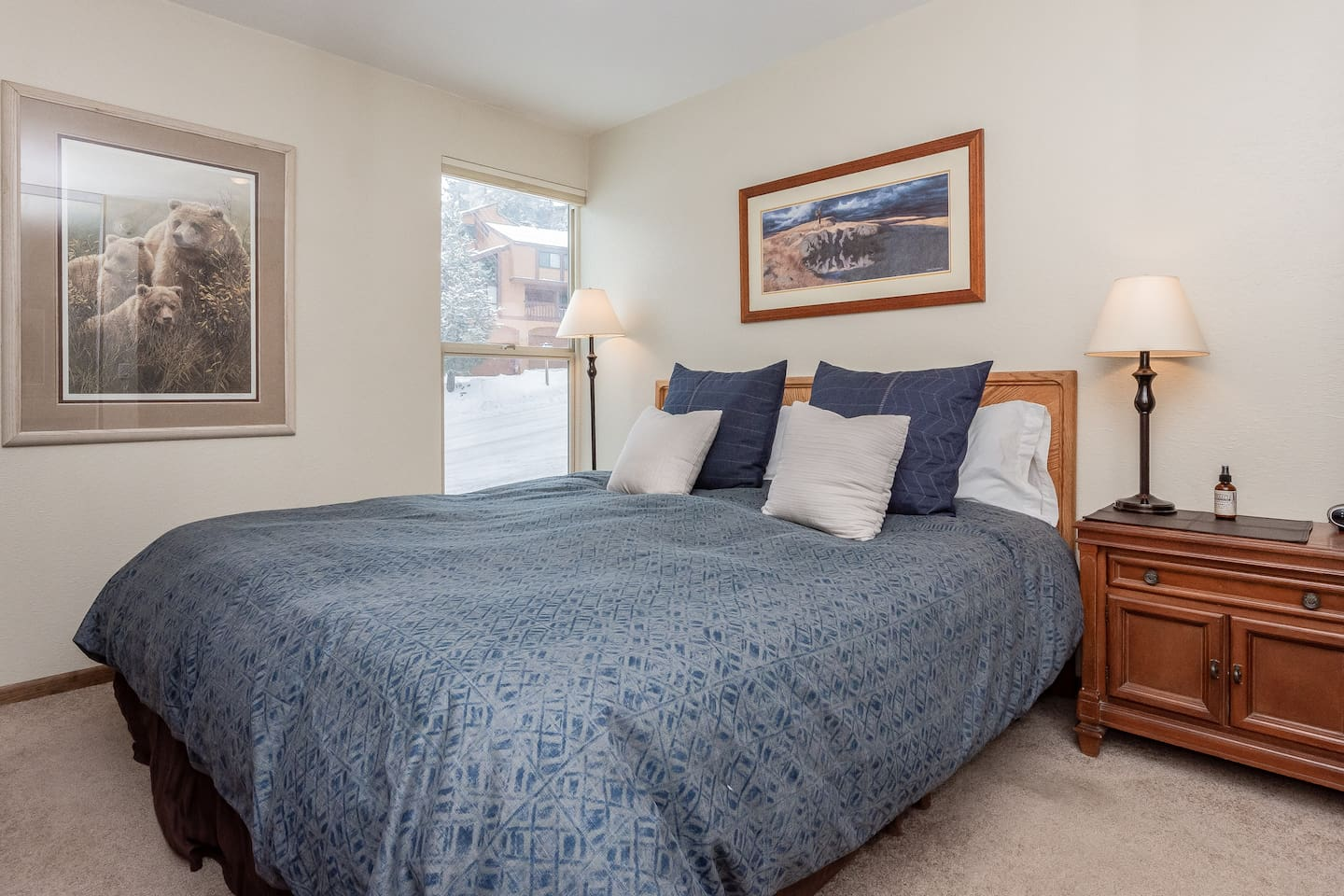 Cozy Mammoth Condo w King Bed,Walk to Canyon Lodge