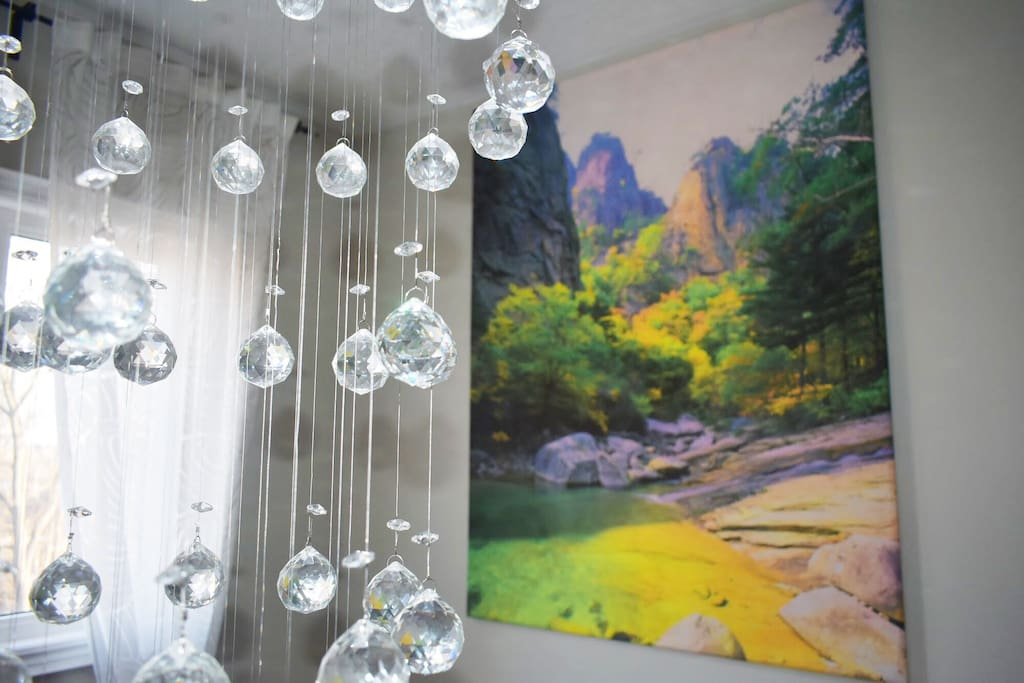 Swarovski Sparkling Crystal Chandelier in the Staircase Hall will brighten up your stay