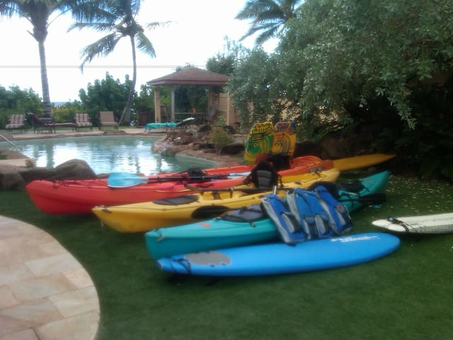 Kayaks, Stand Up Paddle Boards, Snorkel gear and more