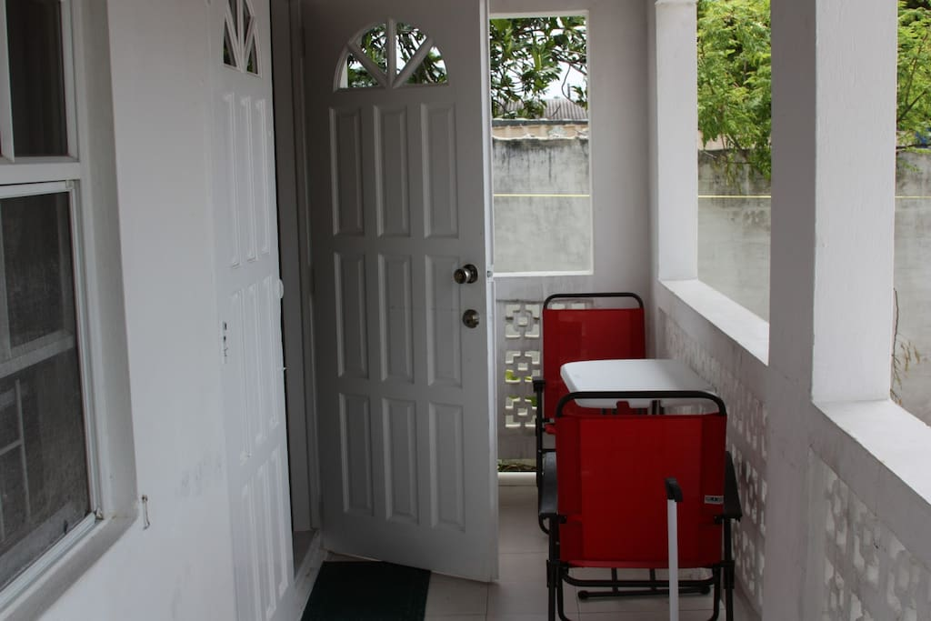 A veranda for chilling