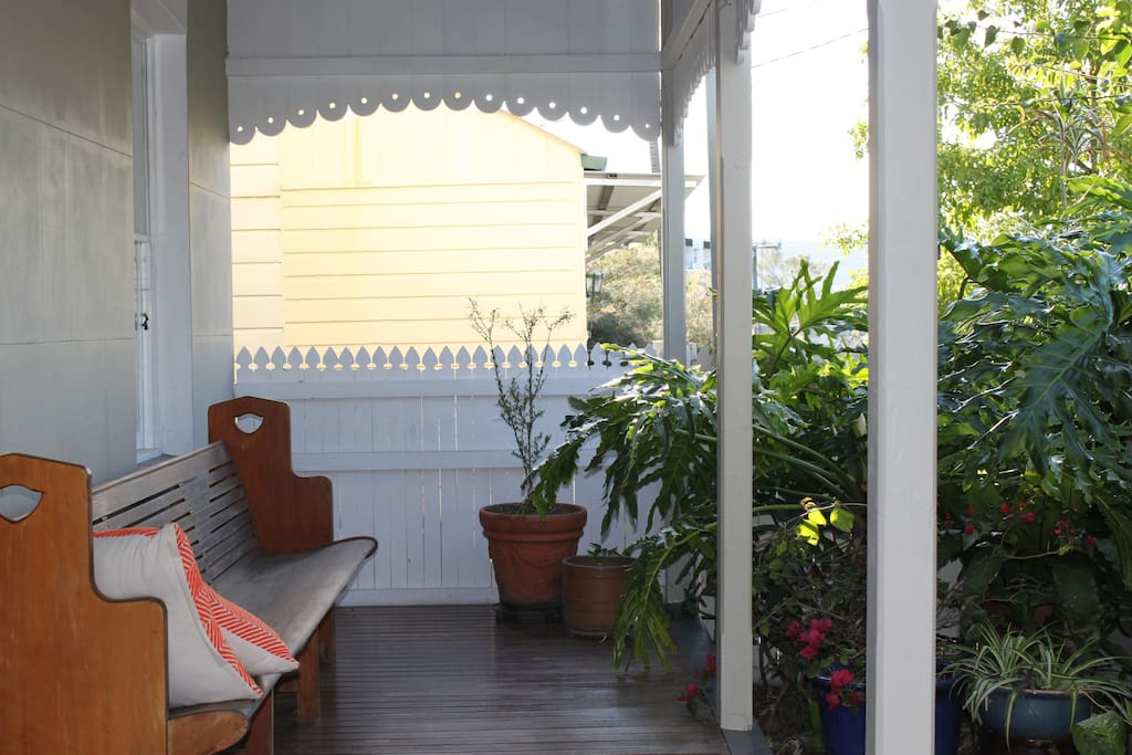 Front porch outside guest room