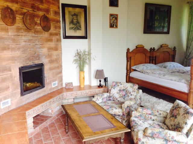 Cozy Apartment With a Fireplace - Klaipėda district - Bed & Breakfast