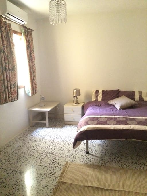 Double bedroom with air condition, fully furnished