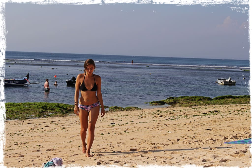 Bingin beach is a few minutes walk