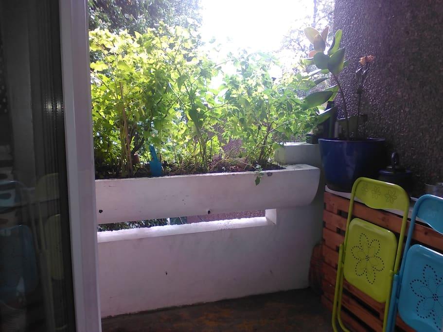 Ouverture sur le balcon