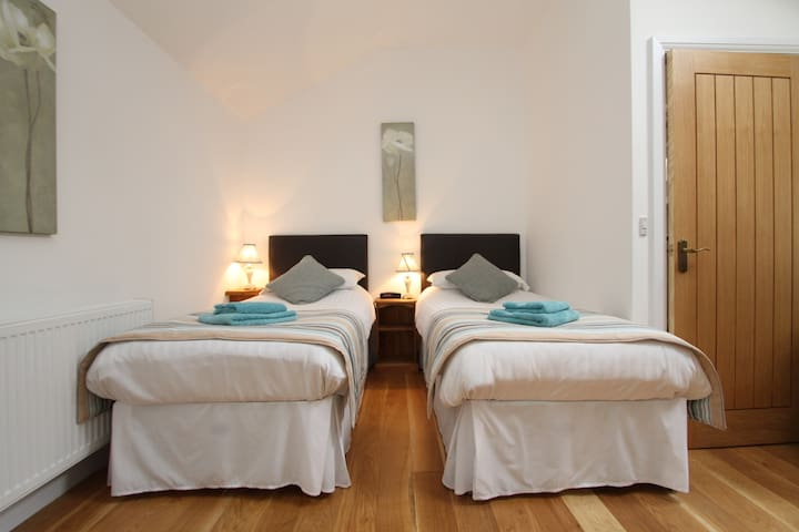Bright & spacious twin bedded room - Wells - Bed & Breakfast