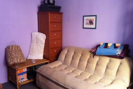 Stanza con divano letto biposto