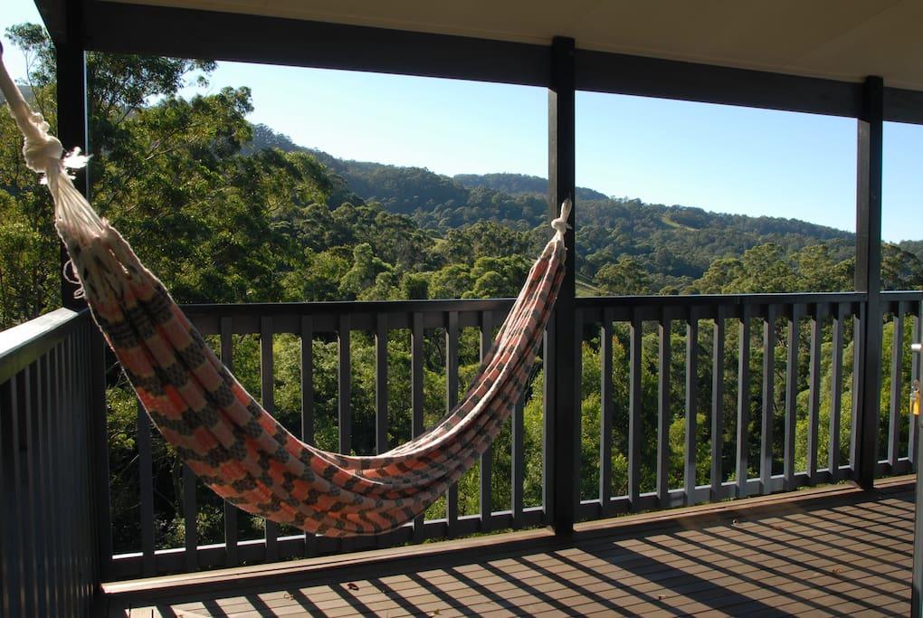 The hammock on the main deck