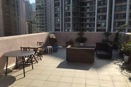 Roof top apartment in central HK