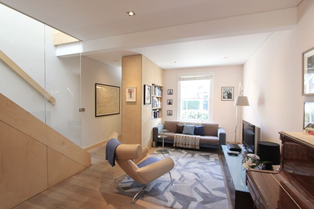 Spacious, contemporary living room