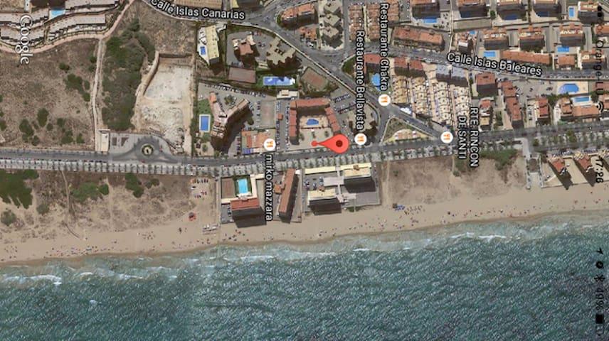 Apartamento 2 hab.en 1a linea playa - Los Arenales del Sol - Apartment