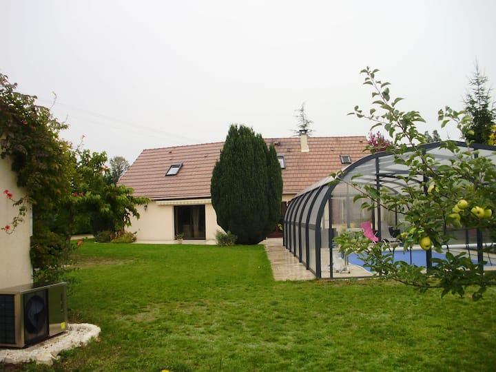 3 chambres Privées avec piscine couverte
