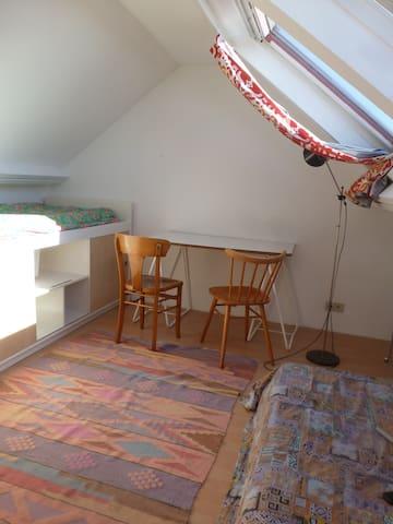 Chambre calme et lumineuse - Ixelles - Huis
