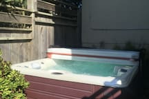 Hot tub from back yard.