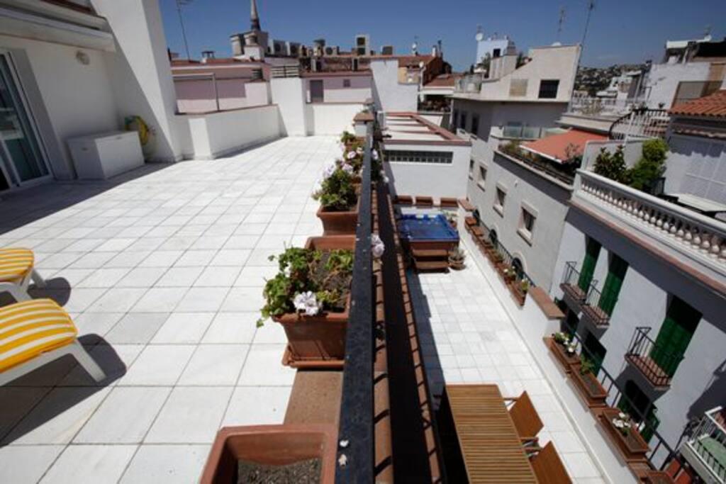Vista de las 2 terrazas