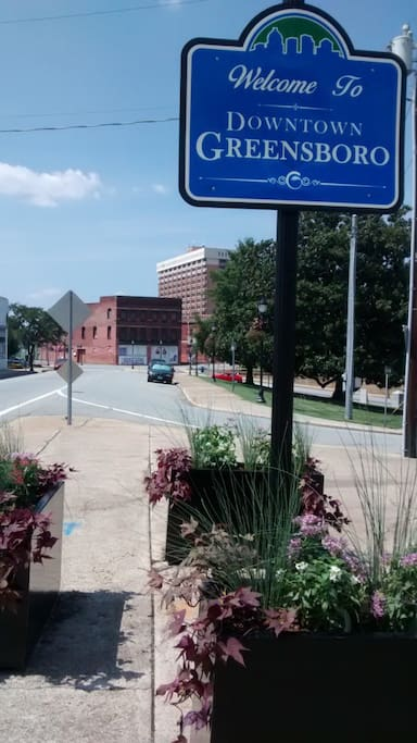 Welcome to downtown Greensboro!