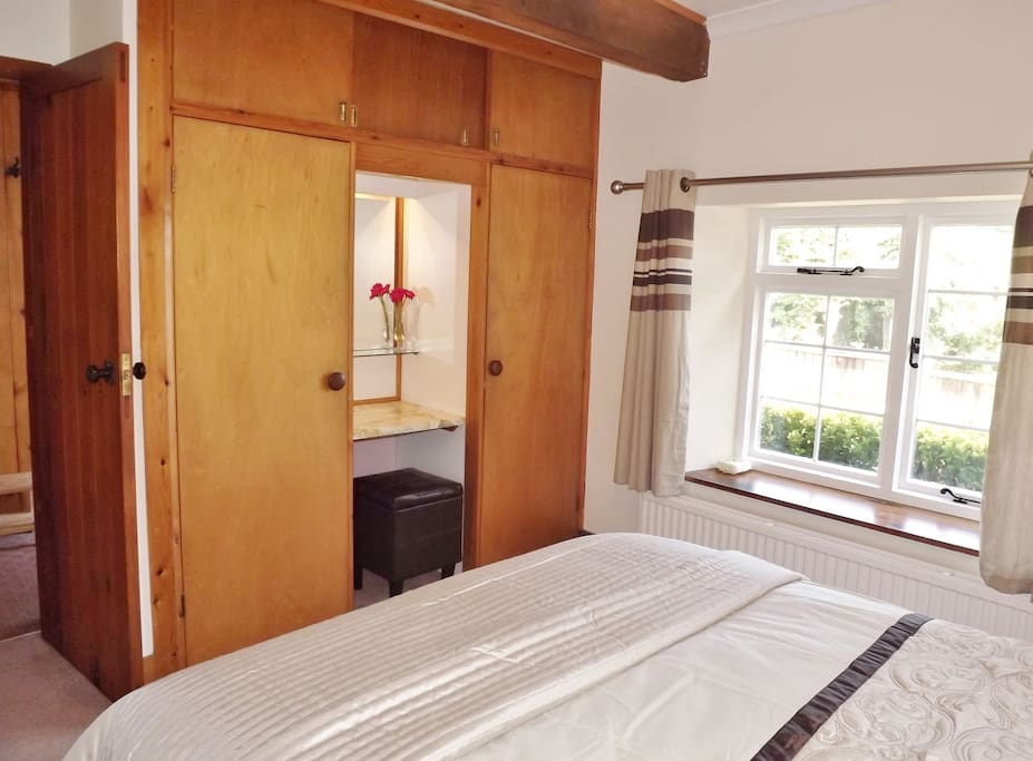 Ample storage in the double bedroom