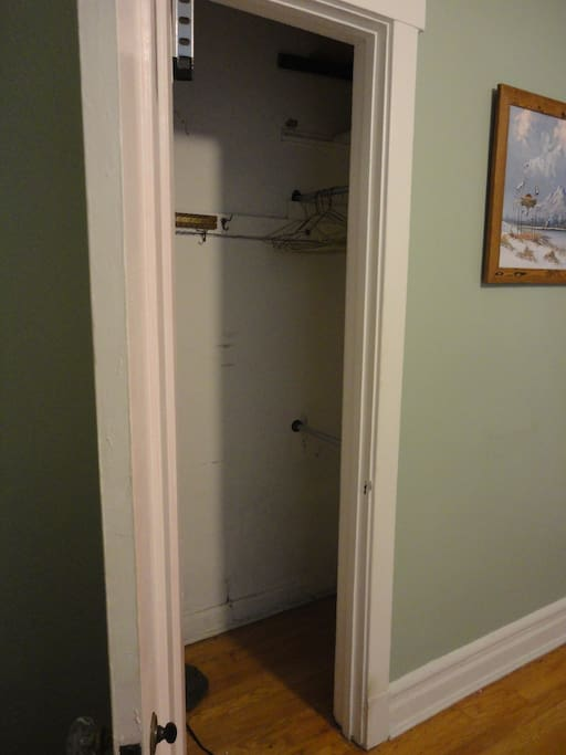 Some closet space available if you'd like to use it.