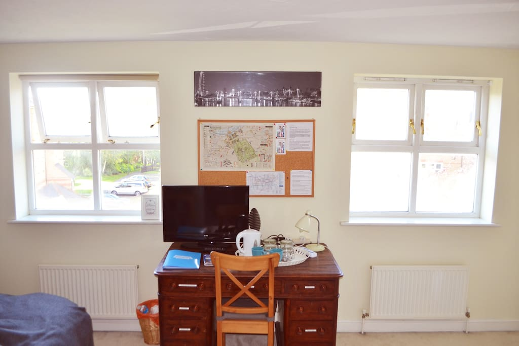 Your desk area is equipped with leaflets and maps to help plan your next exciting day out.