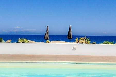 Beach-side with pool-Stromboli C - Terme Vigliatore - Daire
