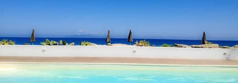 Côté plage avec piscine - Vulcain C apt.