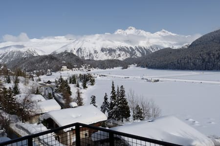 Super central with great lake views - St. Moritz - Pis
