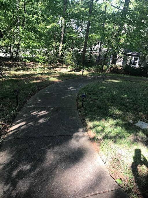 Trail leading to your private entrance!