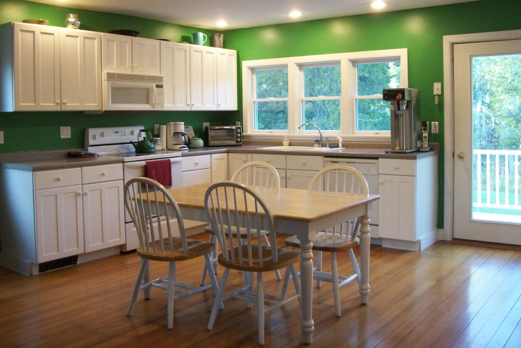 Kitchen on the Second Floor with Second Floor Rear Deck Access