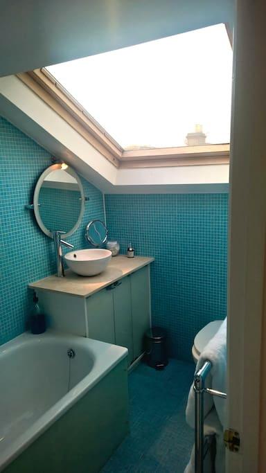 En suite bathroom -shower and bath
